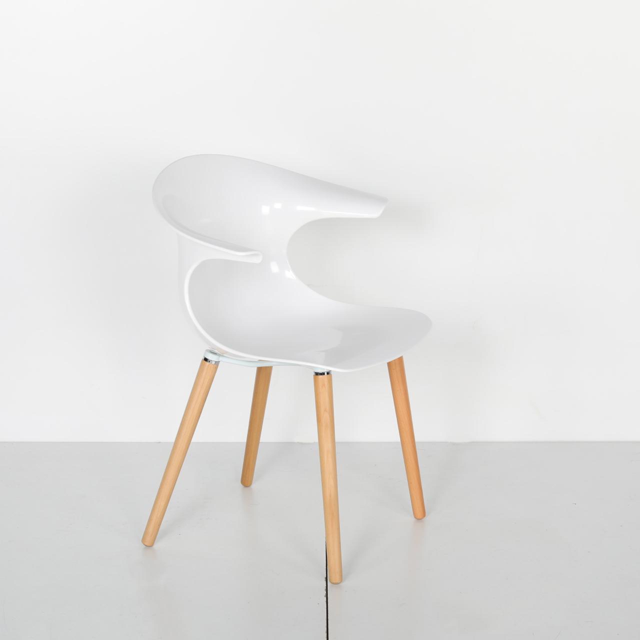 Ahşap Ayaklı Plastik Sandalye Kind 05