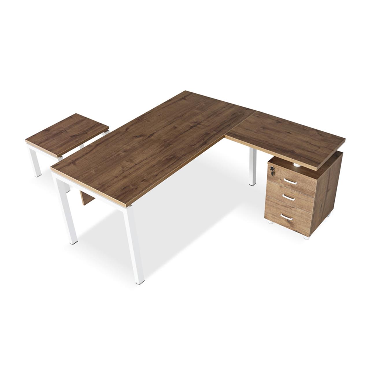 Ofis Masası Etejerli Steel