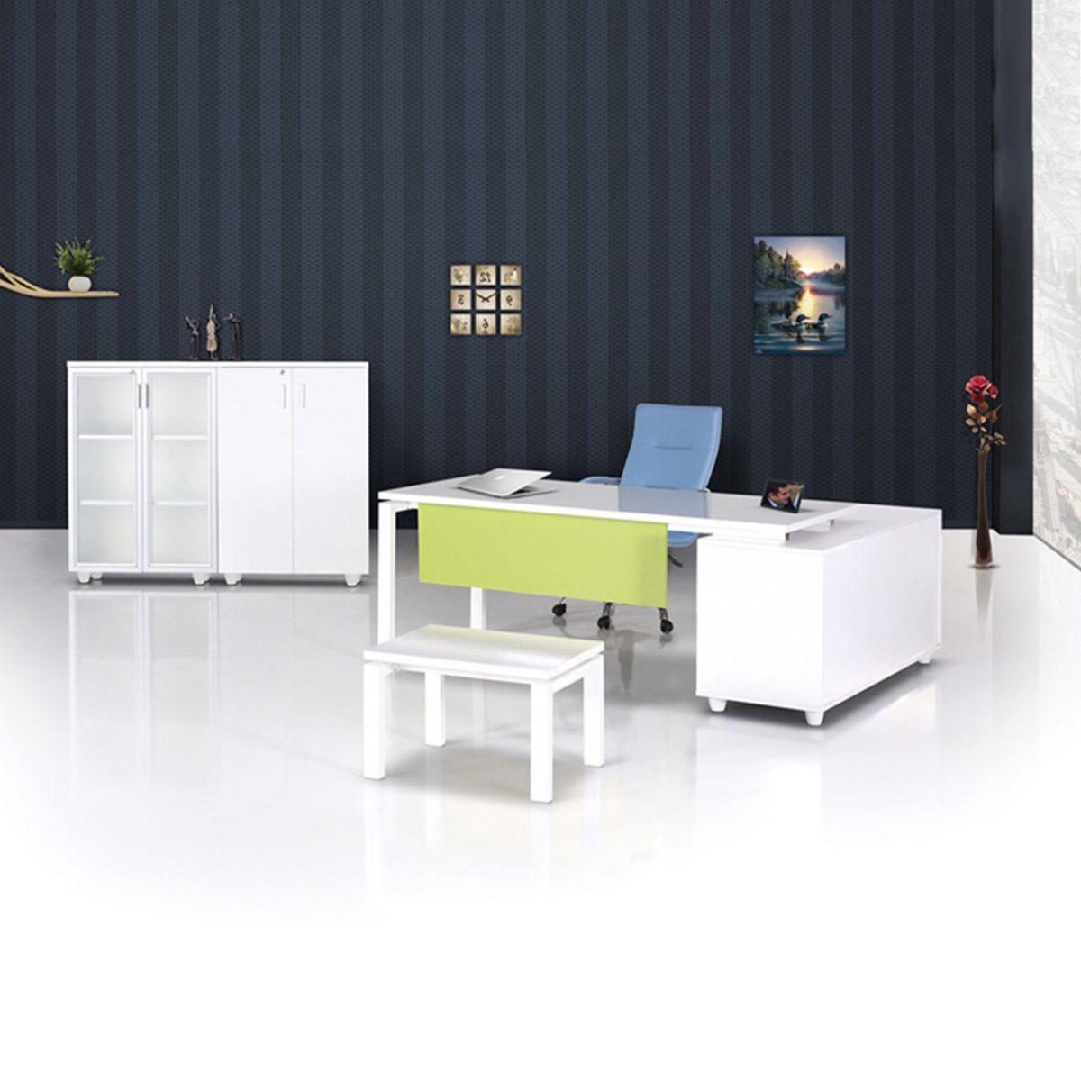 Ofis Masası Konsollu Steel