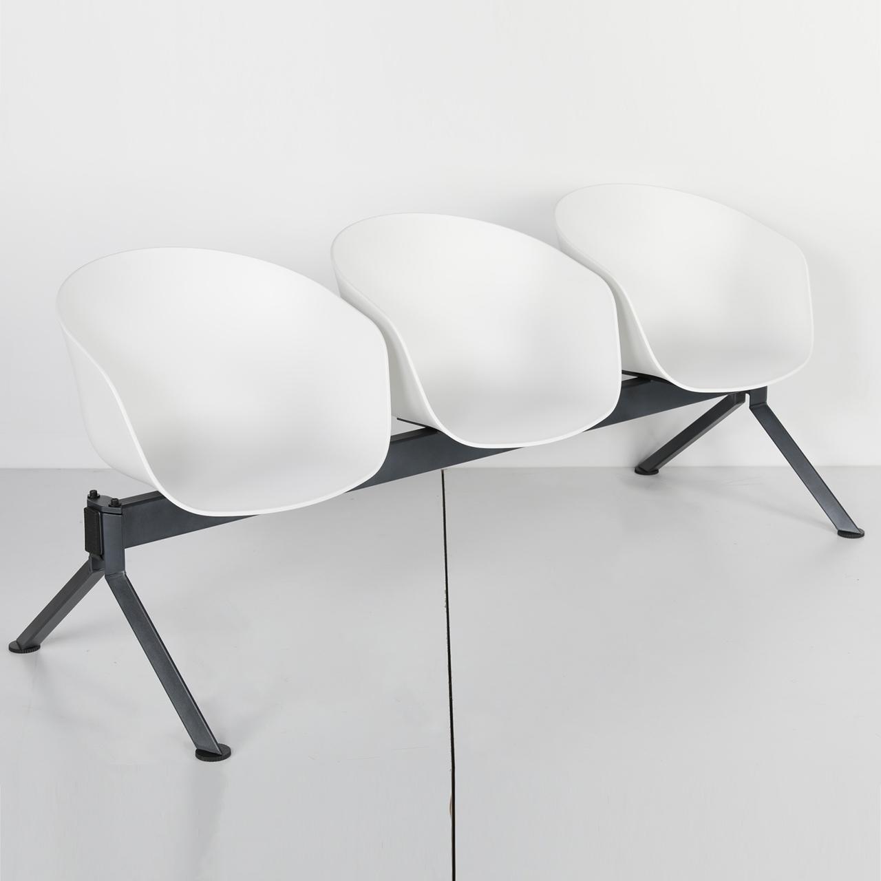 Üçlü Bekleme Plastik Sandalye Solid Sld 10