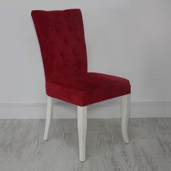 Beyaz Ahşap Ayaklı Cafe Sandalyesi Modslide