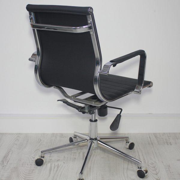 Toplantı Sandalyesi Deri Döşemeli Nazel
