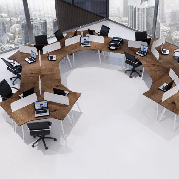 Workstations Üçlü Çalışma Masaları 02